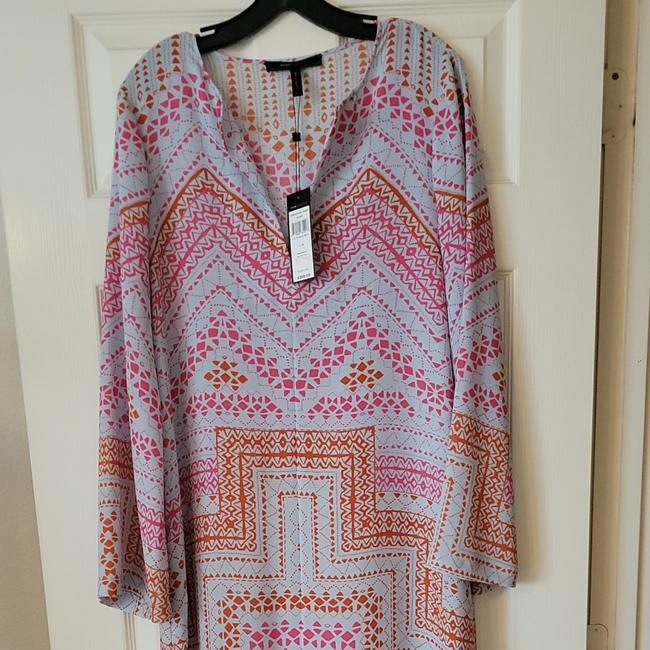 Item - Multicolor-pink Orange and Ligh Blue Caftan Long Casual Maxi Dress Size 10 (M)
