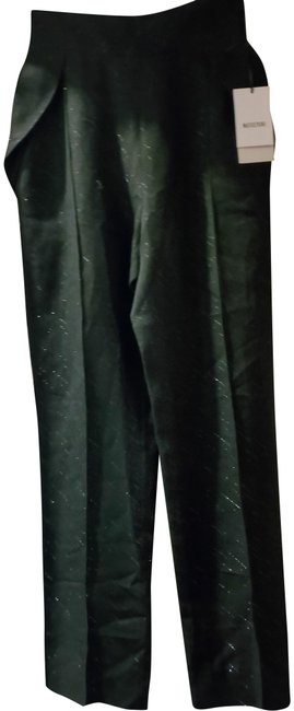Item - Black Silver 4us Toreador with Pattern Pants Size 4 (S, 27)