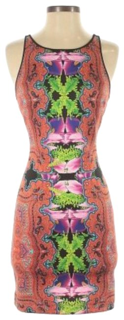 Item - Black/Red Multi Sexy Tank Short Night Out Dress Size 6 (S)