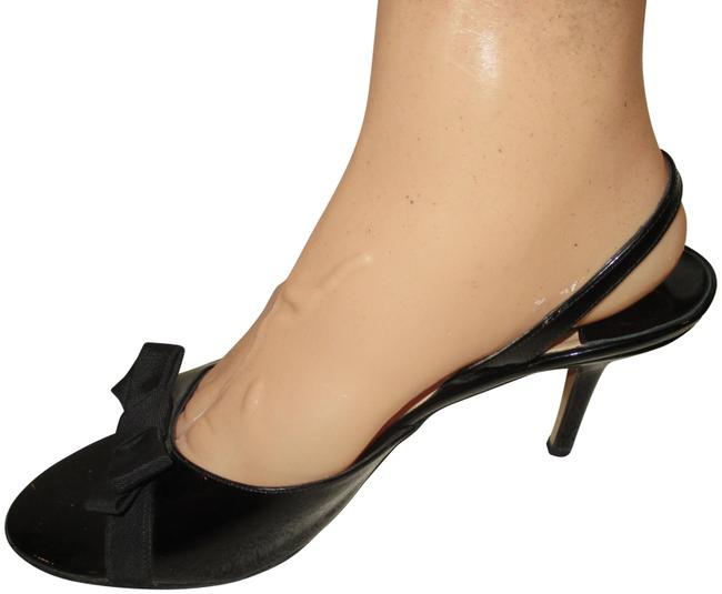 "Item - Black 3"" Heels Design Dress with Bow Pumps Size US 10 Regular (M, B)"