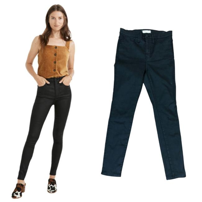 """Item - Black 10"""" High-rise Coated Edition Skinny Jeans Size 28 (4, S)"""