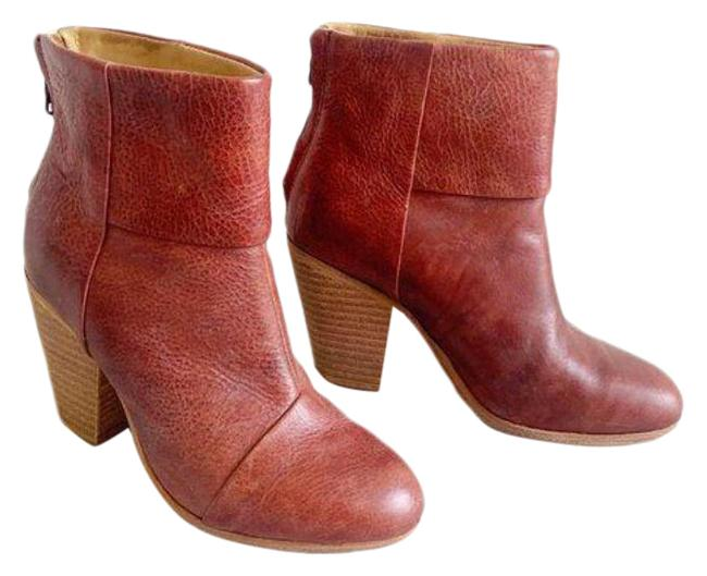 Item - Red Brown Overlap Newbury Ankle Boots/Booties Size US 6 Regular (M, B)