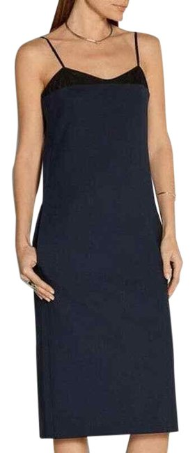 Item - Blue Milano Mesh Mid-length Cocktail Dress Size 4 (S)