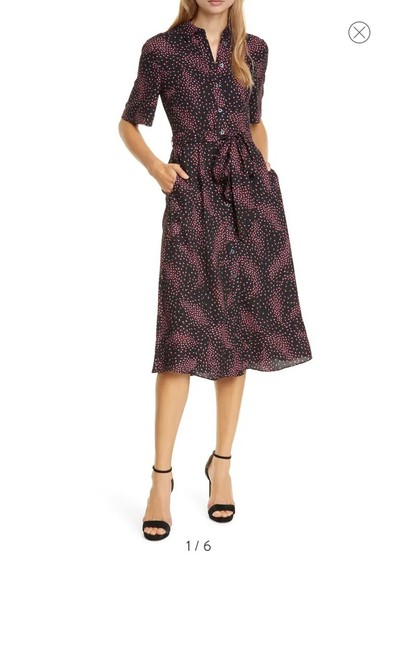 Item - Multicolor Meadow Floral Smock Back Mid-length Work/Office Dress Size 4 (S)