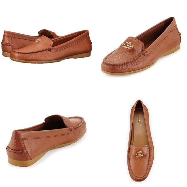 Item - Brown Womens Opal Pebbled Leather Loafers Flats Size US 7 Regular (M, B)