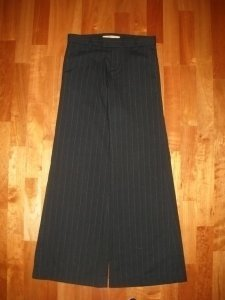 Wide Leg Pants Black Pinstripe