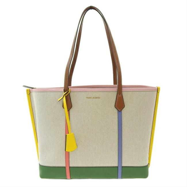 Item - Bag Triple Compartment 64475 254 Leather Multi-color Canvas Tote