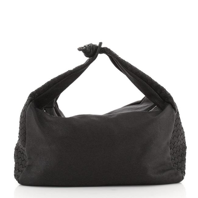 Bottega Veneta Double Zip Intercciato Nappa Large Black Leather Hobo Bag Bottega Veneta Double Zip Intercciato Nappa Large Black Leather Hobo Bag Image 1
