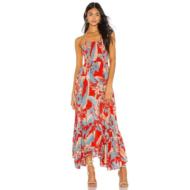 Item - Red Multi Floral Heat Wave Casual Maxi Dress Size 2 (XS)