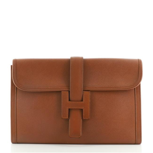 Item - Jige Courchevel Pm Brown Leather Clutch