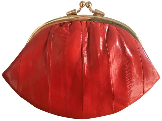 Item - Red Free Ell Skin Coil Purse with Purchase. Wallet
