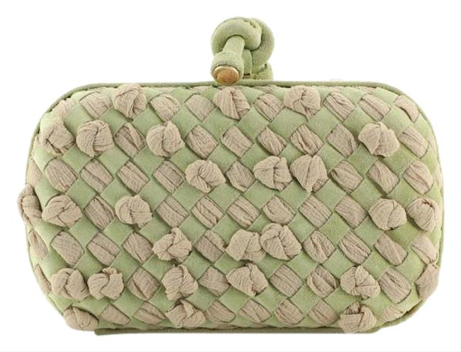 Item - Box Knot Intrecciato and Small Green Suede Fabric Clutch