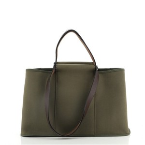 Hermes Canvas Leather Tote in Green