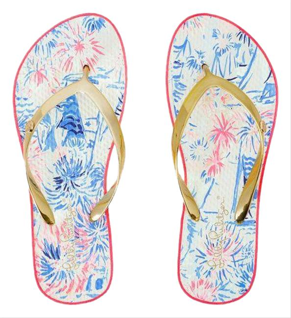 Item - Multicolor Pool Flip Flop Sandals Size US 9 Regular (M, B)