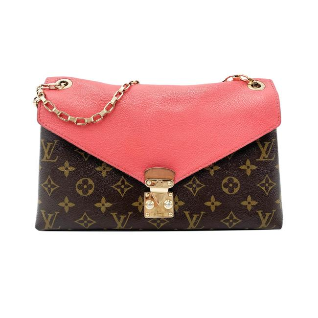 Item - Pallas Chain Monogram Poppy Pink Canvas Shoulder Bag