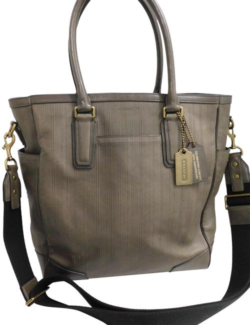 Item - 70th Anniversary 70524 Bleeker Tote Large Carry-all Green Leather Messenger Bag