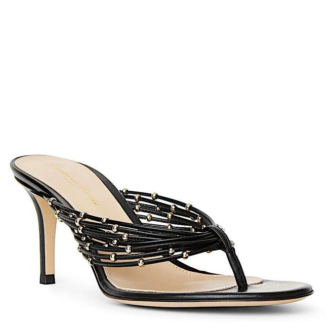 Item - Black/Gold New Open Toe Casual Style Plain Leather Elegant Style Sandals Size EU 35.5 (Approx. US 5.5) Regular (M, B)