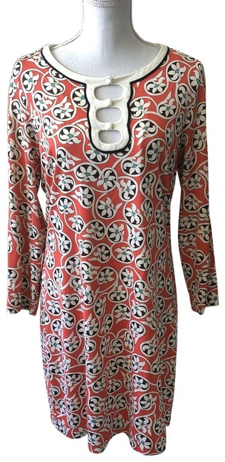 Item - Red Womens Floral Maxi Long Sleeve Mid-length Short Casual Dress Size 14 (L)