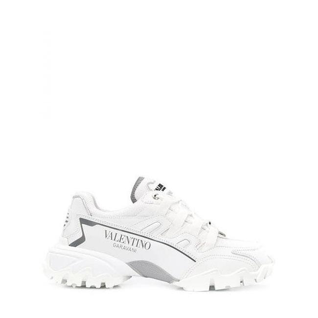 Item - White Climbers Fabric and Calfskin Leather Sneakers Size EU 39 (Approx. US 9) Regular (M, B)