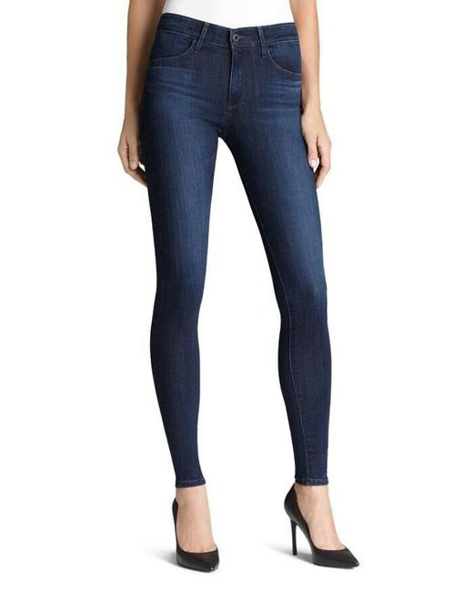 Item - Blue Distressed The Farrah High Rise Ankle Skinny Jeans Size 29 (6, M)