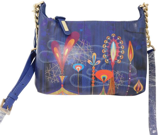 Item - Rex Ray Allistair Handpainted Gold Chain Small Multicolor Leather Cross Body Bag