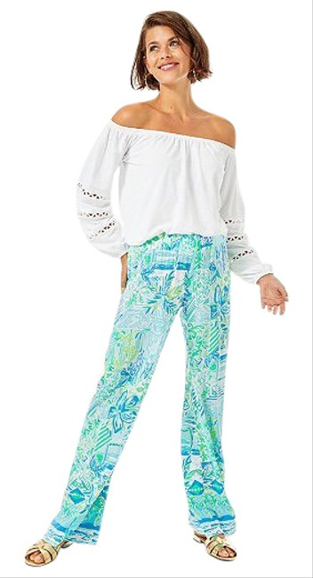 "Item - Multicolor 33"" Bal Harbour Mid Rise Palazzo Pants Size 4 (S, 27)"
