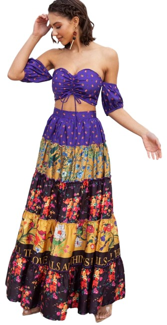 Item - Multi-color Two Set Love Heals Violeta Long Casual Maxi Dress Size 6 (S)