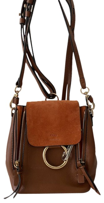 Item - Faye Brown Leather Backpack
