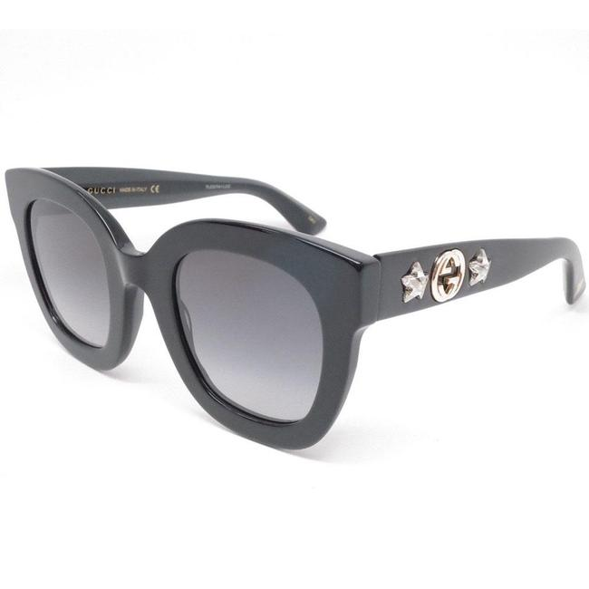 Gucci Black Color Acetate Frame & With Grey Gradient Lens Gg0208s-001 Sunglasses Gucci Black Color Acetate Frame & With Grey Gradient Lens Gg0208s-001 Sunglasses Image 1