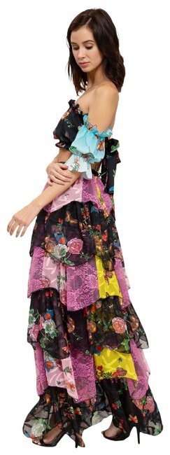 Item - Multi-color Butterfly Chiffon Floral Print Skirt Set Long Short Casual Dress Size 6 (S)
