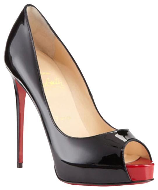 Item - Black with Red Peep Toe New Very Prive 120 Patent (Bk78 Black/Red 018) Pumps Size EU 42 (Approx. US 12) Regular (M, B)