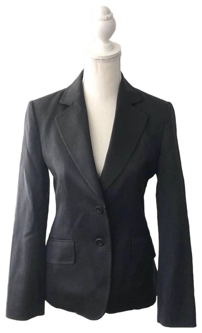 Item - Black Charcoal Grey Tailored Two Button Suit Blazer Size 4 (S)