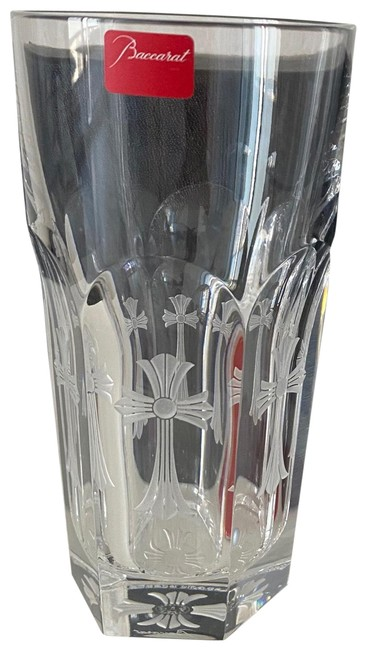 Item - Clear Chrome Hearts Engraved Crystal Glass
