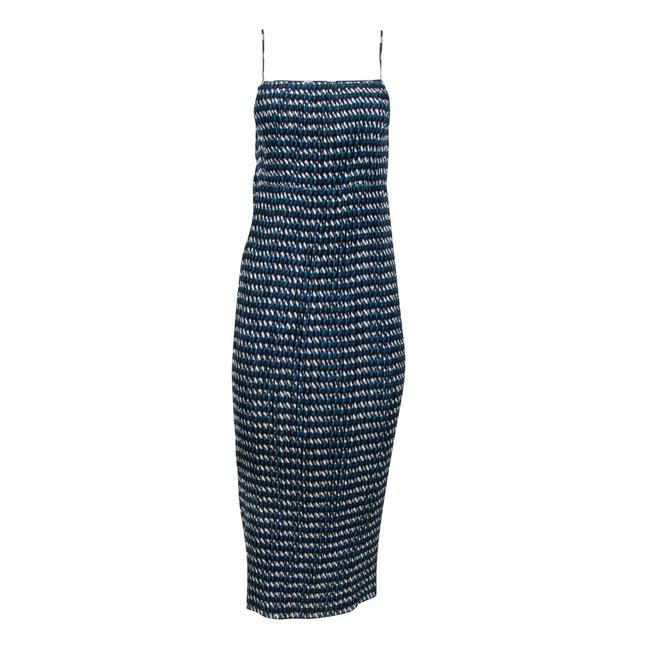 Item - Blue Pleated Long Casual Maxi Dress Size 8 (M)