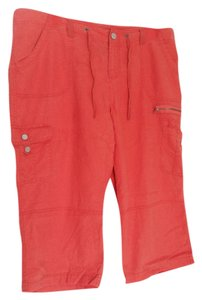 Lane Bryant Linen Cotton Capris Orange
