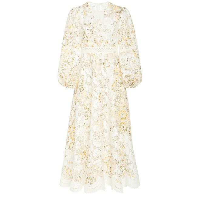 Item - White Long / Embroidered Mid-length Short Casual Dress Size 2 (XS)