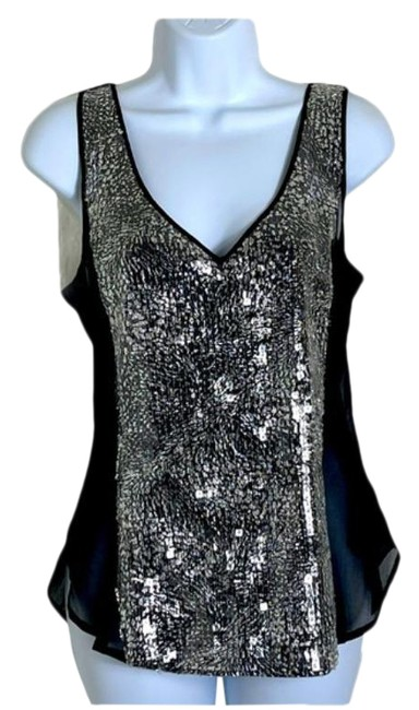 Item - Black Camisole Sequined Tank Top/Cami Size 2 (XS)
