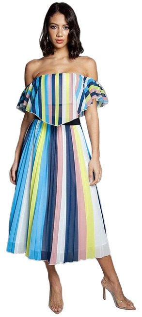 Item - Multi-color Vivid Ray Two Piece Skirt Set Long Casual Maxi Dress Size 6 (S)