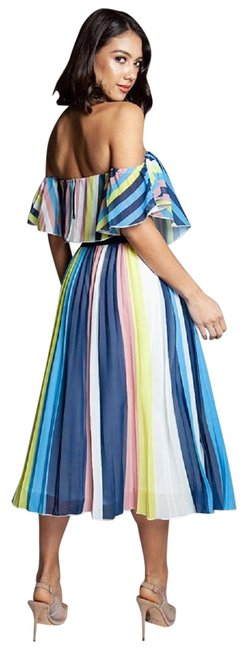 Item - Multi-color Vivid Ray Two Piece Skirt Set Long Casual Maxi Dress Size 10 (M)