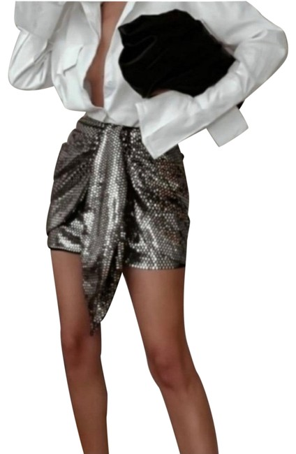 Item - Silver Sparkly Knotted Skirt Size 4 (S, 27)