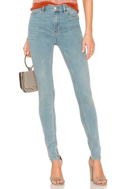 Item - Blue Light Wash Long and Lean High Rise Skinny Jeans Size 32 (8, M)
