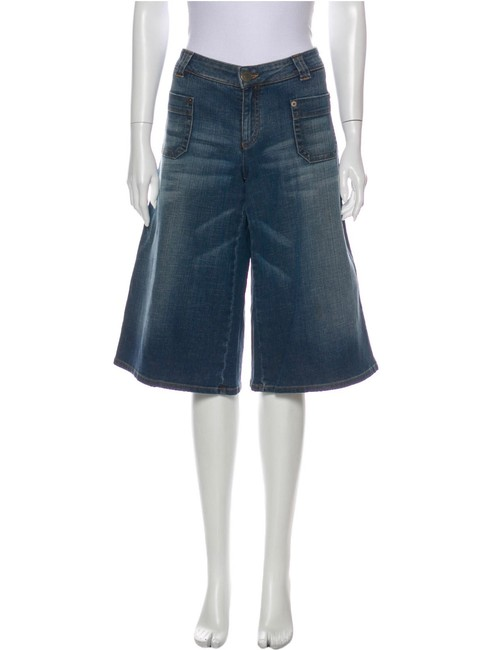 Item - Blue London Flare Long Shorts Capri/Cropped Jeans Size 8 (M, 29, 30)