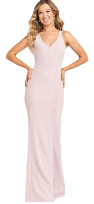 Item - Pink Cream | Morgan Bridesmaid Gown Small Long Casual Maxi Dress Size 4 (S)