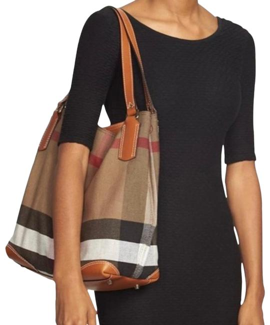 Item - Medium Maidstone with Pouch Brown Canvas & Leather Tote