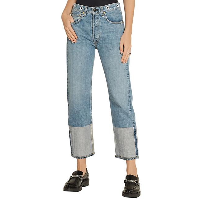 Item - Blue Light Wash Ccropped / Straight Leg Jeans Size 25 (2, XS)
