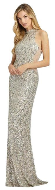 Item - Silver Cream 4818a Long Formal Dress Size 6 (S)