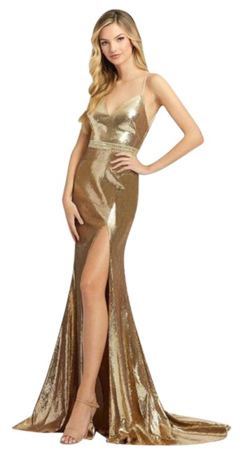 Item - Gold 2112a Long Formal Dress Size 8 (M)