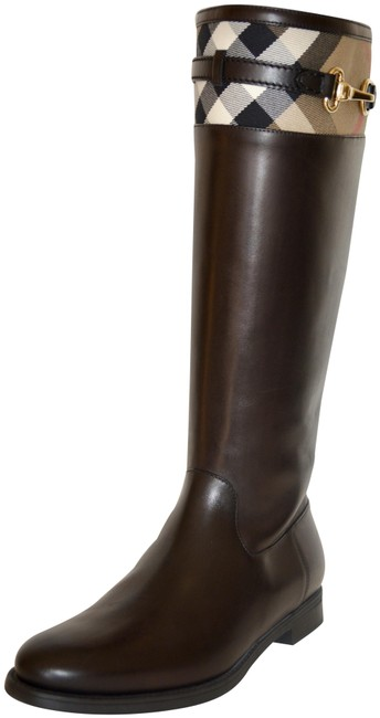 Item - Chesnut Dougal Riding House Check Leather Boots/Booties Size US 9 Regular (M, B)