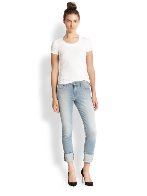 Item - Blue Light Wash Nayeli Capri/Cropped Jeans Size 24 (0, XS)