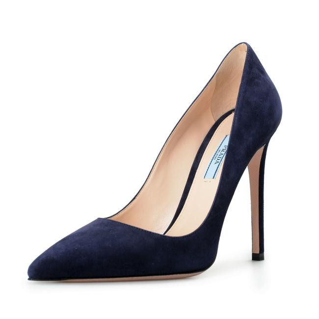 Item - Navy Blue Women's 11939f Suede Leather High Pumps Size US 10 Regular (M, B)
